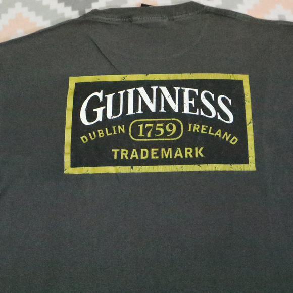 Vintage Other - Vintage Official GUINNESS Charcoal Gray Shirt
